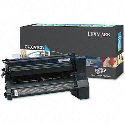 LEXMARK C780 X782 TONER CARTRIDGE CYAN 6K RP